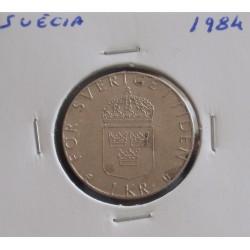 Suécia - 1 Krona - 1984