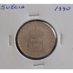Suécia - 1 Krona - 1990