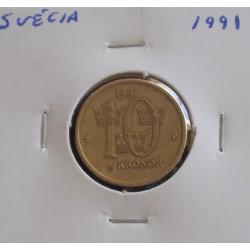 Suécia - 10 Kronor - 1991