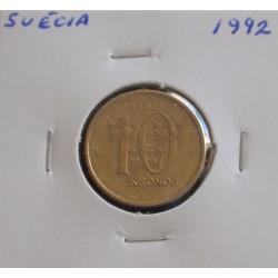 Suécia - 10 Kronor - 1992