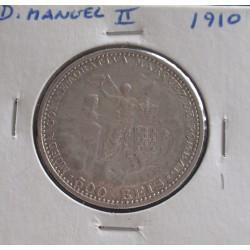 D. Manuel II - 500 Réis - 1910 - Marquez de Pombal - Prata