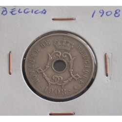 Bélgica ( Belgique ) - 25 Centimes - 1908