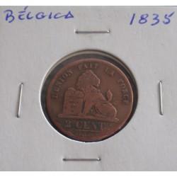 Bélgica ( Des Belges ) - 2 Centimes - 1835