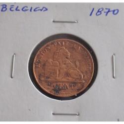 Bélgica ( Des Belges ) - 2 Centimes - 1870