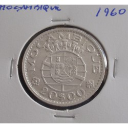 Moçambique - 20 Escudos - 1960 - Prata