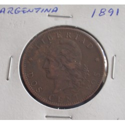 Argentina - 2 Centavos - 1891