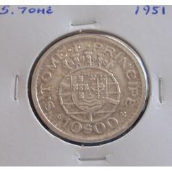 S. Tomé - 10 Escudos - 1951 - Prata