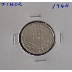 Timor - 50 Avos - 1948 - Prata