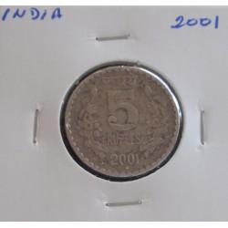 India - 5 Rupees - 2001