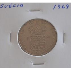 Suécia - 1 Krona - 1969