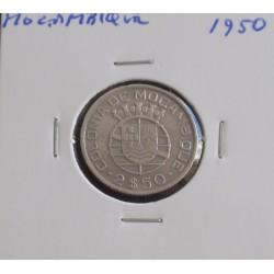Moçambique - 2,50 Escudos - 1950 - Prata