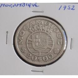 Moçambique - 20 Escudos - 1952 - Prata