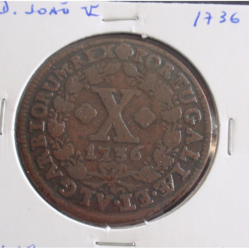 D. João V - X Réis - 1936 - A. G. 34.18