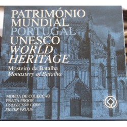Portugal - 5 Euro - 2005 - Mosteiro da Batalha - Proof - Prata