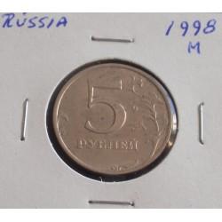 Rússia - 5 Roubles - 1998 M