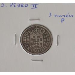 D. Pedro II - 3 Vinténs P  - N/D (1683-1706 ) - A. G. 40.01 - Prata