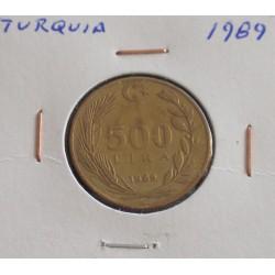 Turquia - 500 Lira - 1989