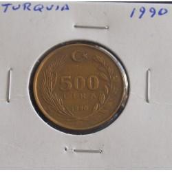 Turquia - 500 Lira - 1990
