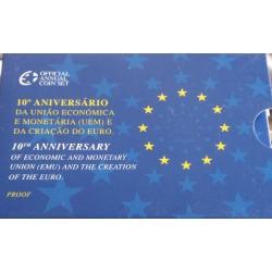 Portugal - 2 Euro - 2009 - 10 Anos criação Euro - Proof
