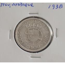 Moçambique - 5 Escudos - 1938 - Prata