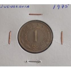 Jugoslávia - 1 Dinar - 1975