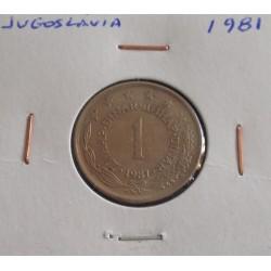 Jugoslávia - 1 Dinar - 1981