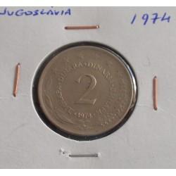 Jugoslávia - 2 Dinara - 1974