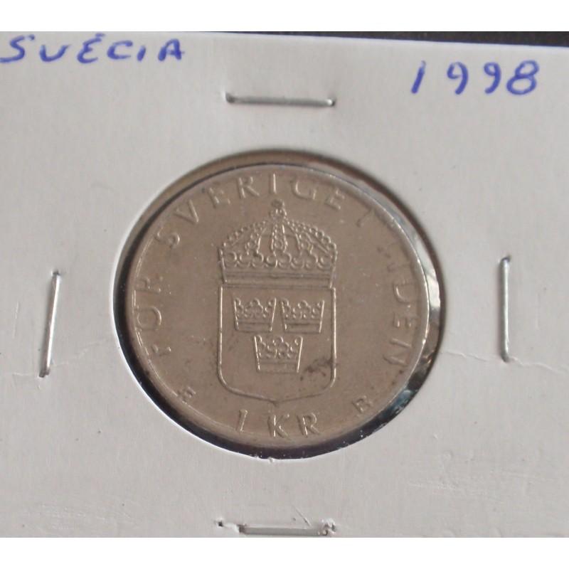Suécia - 1 Krona - 1998