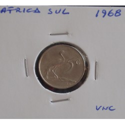 África do Sul - 5 Cents - 1968 ( Suid ) - Unc