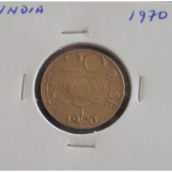India - 20 Paisa - 1970
