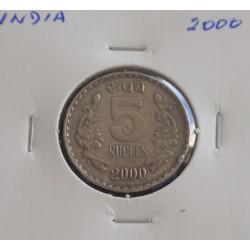 India - 5 Rupees - 2000