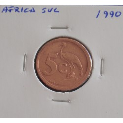 África do Sul - 5 Cents - 1990