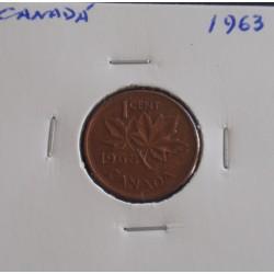 Canadá - 1 Cent - 1963