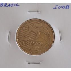 Brasil - 25 Centavos - 2008