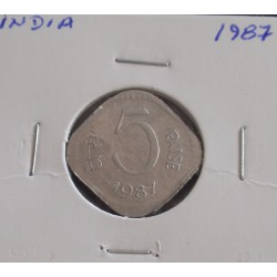 India - 5 Paise - 1987