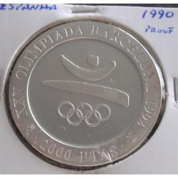 Espanha - 2000 Pesetas- 1990 - Prata - Proof