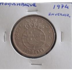 Moçambique - 10 Escudos - 1974 - Envernizada