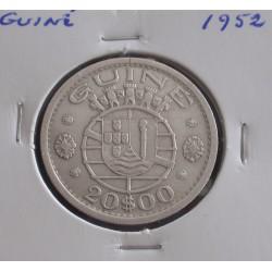 Guiné - 20 Escudos - 1952 - Prata