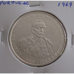Portugal - 50 Escudos - 1969 - Carmona - Prata