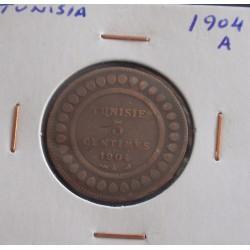 Tunisia - 5 Centimes - 1904 A