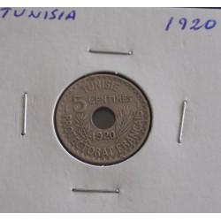 Tunisia - 5 Centimes - 1920