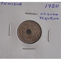 Tunisia - 5 Centimes - 1920 Módulo Pequeno