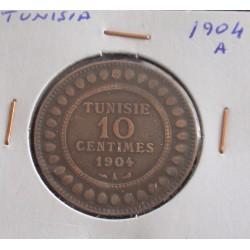 Tunisia - 10 Centimes - 1904 A