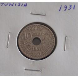 Tunisia - 10 Centimes - 1931