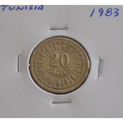 Tunisia - 20 Millim - 1983