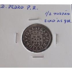 D. Pedro P. R. - 1/2 Tostão (Eixo às 9 Horas) - N/D (1667-1683) - A. G. 46.03 - Prata