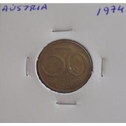 Aústria - 50 Groschen - 1974