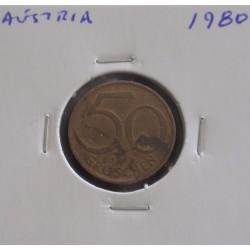 Aústria - 50 Groschen - 1980
