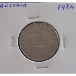 Aústria - 5 Schilling - 1974