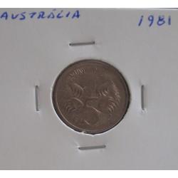 Austrália - 5 Cents - 1981